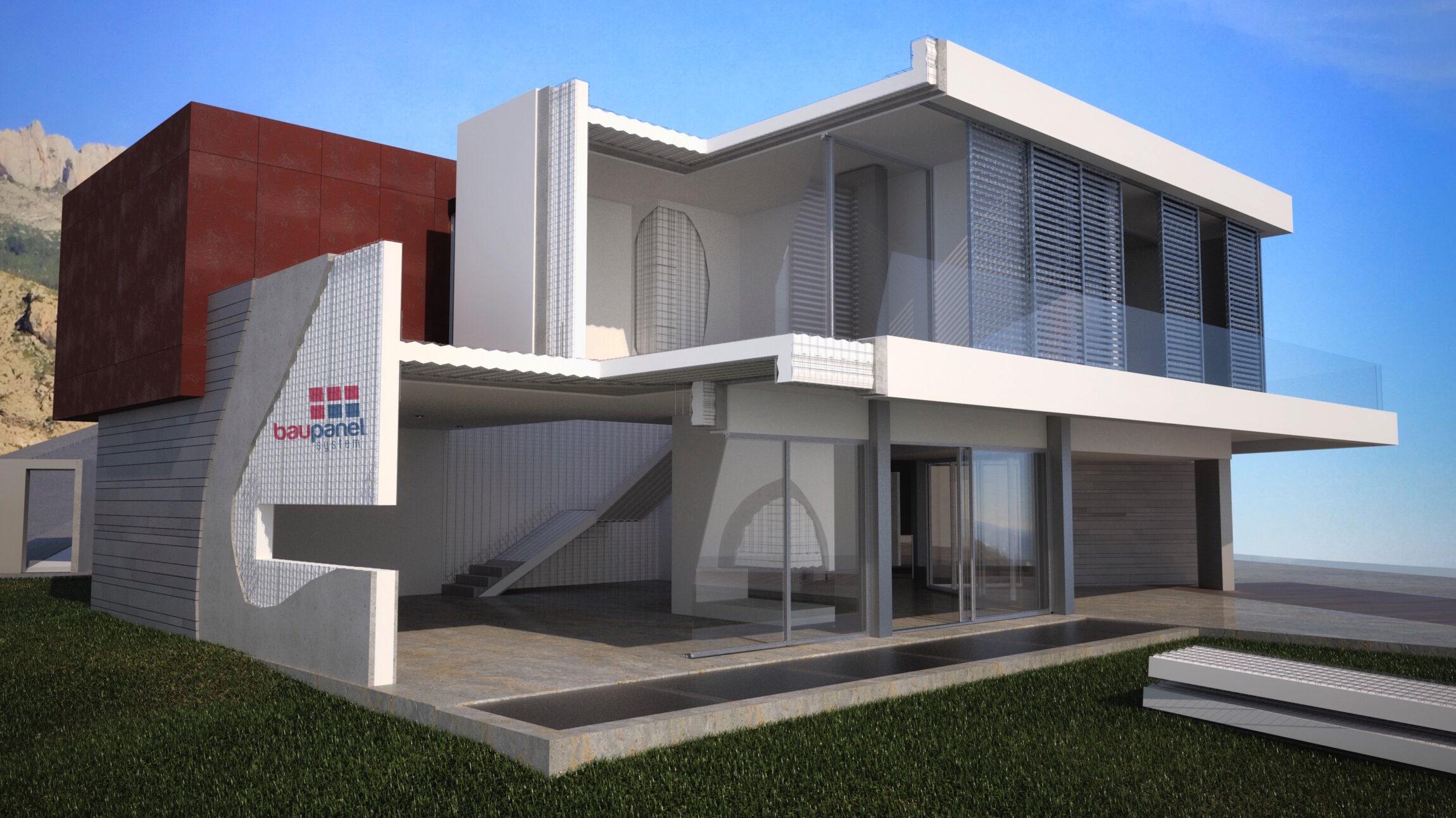 Baupanel system, sistema de construcción eficiente