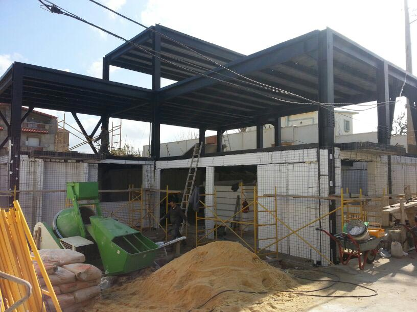 Algeria argel project combined with steel frame baupanel - Casas de estructura metalica ...