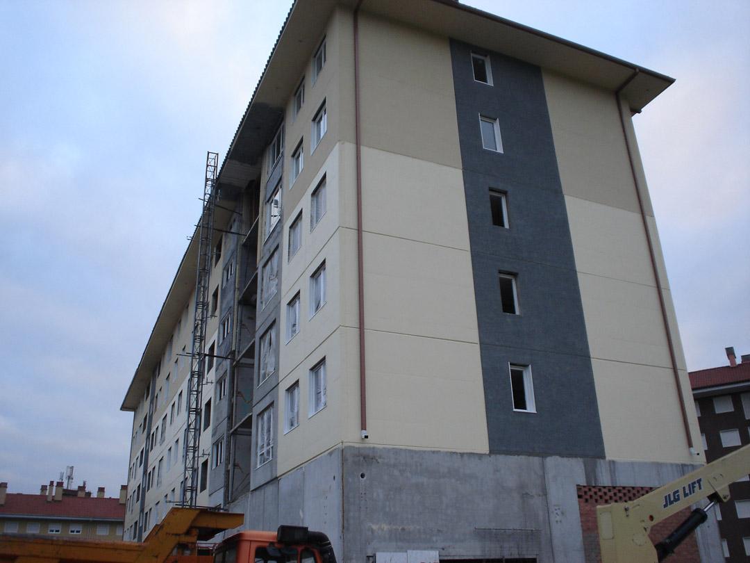 Bilbao, Mirilla. Edificio construido con el sistema de construcción Baupanel 12