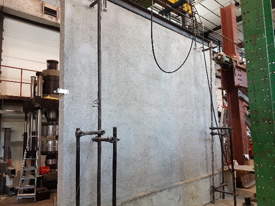 ensayos de carga en muros baupanel
