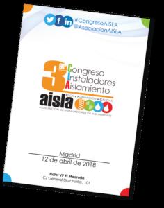 Información y registro en el tercer congreso de instaladores de aislamiento AISLA, en Madrid 2018