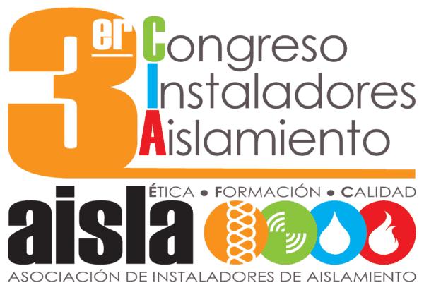 Logo de tercer congreso de instaladores de aislamiento AISLA, en Madrid 2018