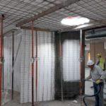 2. Construcción de aulas curvas en Convento en Madrid, con el sistema constructivo Baupanel®, 2018