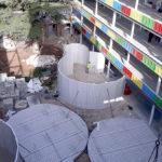 Construcción de aulas curvas en Convento en Madrid, con el sistema constructivo Baupanel®, 2018