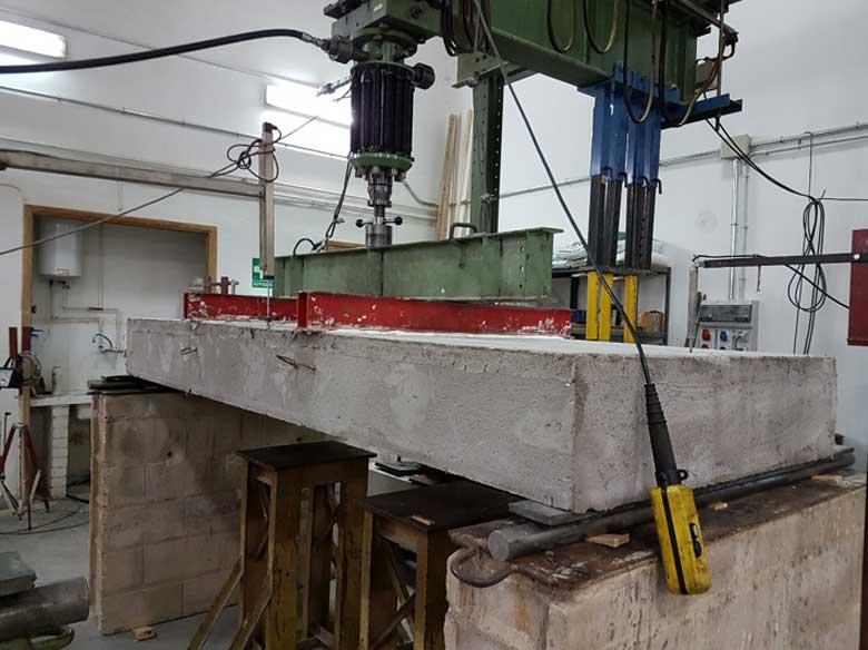 Pruebas de resistencia estructural para terremotos en Instituto Eduardo Torroja, Baupanel