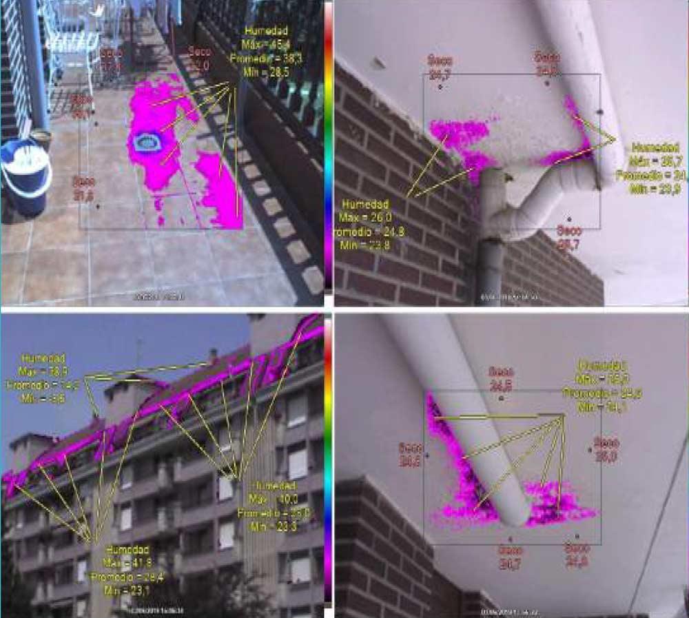 Termografía realizada en edificio en Cantabria