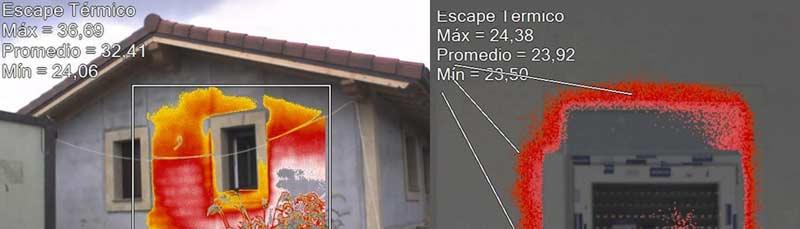Escape térmico, construcción tradicional